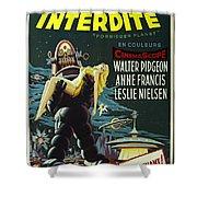 The Forbidden Planet Vintage Movie Poster Shower Curtain