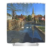 The Ford At Eynsford Kent Shower Curtain