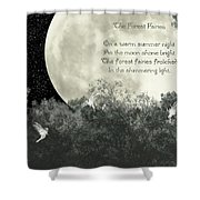 The Forest Fairies Shower Curtain