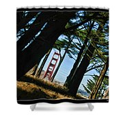 The Forest Of The Golden Gate Shower Curtain
