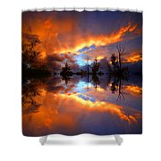 The Forgotten Sunset Shower Curtain