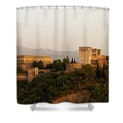 The Fortress On The Hill Shower Curtain by Mountain Dreams