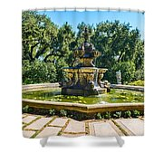 The Fountain - Iconic Fountain At The Huntington Library. Shower Curtain