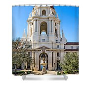 The Fountain - The Beautiful Pasadena City Hall. Shower Curtain