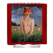 The Fox Finder Shower Curtain