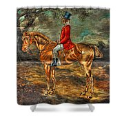 The Fox Hunt With Light Antique Store Mural Griffin Georgia Art Shower Curtain