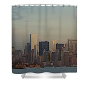 The Freedom Tower And Island Shower Curtain