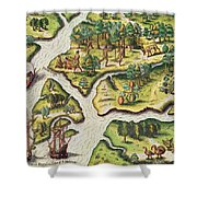 The French Arrive At Port Royal Shower Curtain