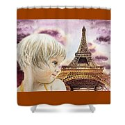 The French Girl Shower Curtain