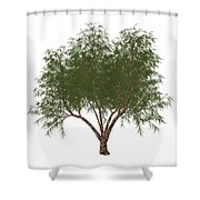 The French Tamarisk Tree Shower Curtain