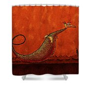 The Friendly Dragon Shower Curtain