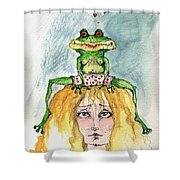 The Frog And The Princess Shower Curtain