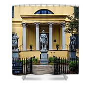 The Front Of The Telfair Museum Of Art Shower Curtain