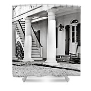 The Front Porch - Bw Shower Curtain