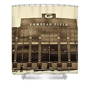The Frozen Tundra Shower Curtain by Tommy Anderson