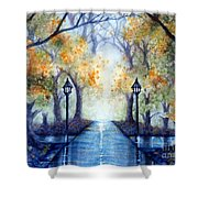 The Future Looks Bright Shower Curtain