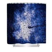 The Galaxy Blue Version Shower Curtain