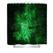 The Galaxy Green Version Shower Curtain