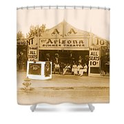 The Gamblers 1914 Lubin The Arizona Summer Theater Tent Tucson Arizona 1914-2008 Shower Curtain