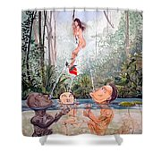 The Game Of The River Shower Curtain