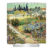 The Garden At Arles, 1888 Shower Curtain