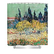 The Garden At Arles, Detail Shower Curtain