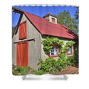 The Garden Barn Shower Curtain