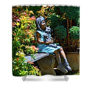 The Garden Bench Shower Curtain
