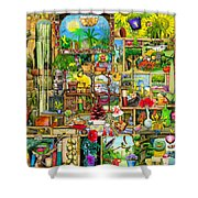 The Garden Cupboard Shower Curtain