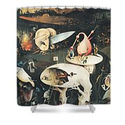 The Garden Of Earthly Delights Hell, Right Wing Of Triptych, C.1500 Oil On Panel See 322, 3425 Shower Curtain