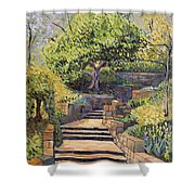 The Garden Stairs Shower Curtain