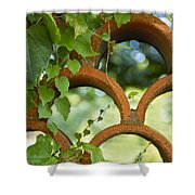 The Garden Wall Shower Curtain