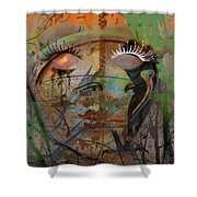 The Gardian In Roots  Shower Curtain