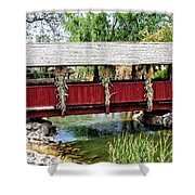The Gardner Villiage Bridge Shower Curtain