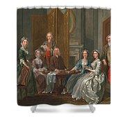 The Gascoigne Family, C.1740 Shower Curtain