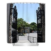 The Gate At Vizcaya Gardens Shower Curtain