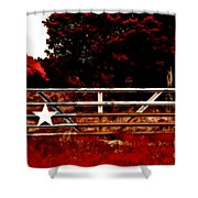 The Gate To Texas  Shower Curtain