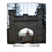 The Gates Leading Into New Sigulda Castle Shower Curtain