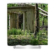 The Gazebo In The Woods Shower Curtain