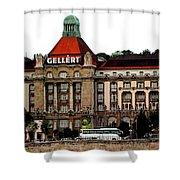 The Gellert Hotel Shower Curtain