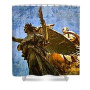 The Generals Golden  Angel Shower Curtain