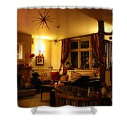 The George Inn Middle Wallop Shower Curtain