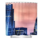 The Gherkin And The Cheesgrater London Shower Curtain