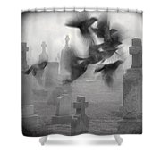 The Ghost Birds Shower Curtain