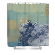 The Giant Butterfly And The Moon - J216094206-c09a Shower Curtain by Variance Collections