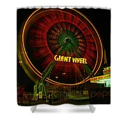 The Giant Wheel Spinning  Shower Curtain