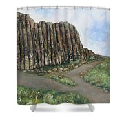 The Giant's Causeway Shower Curtain