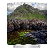 The Giant's Causeway - Peak And Pool Shower Curtain
