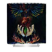 The Gift Shower Curtain by Kd Neeley