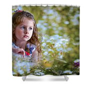 The Girl And The Butterfly Shower Curtain